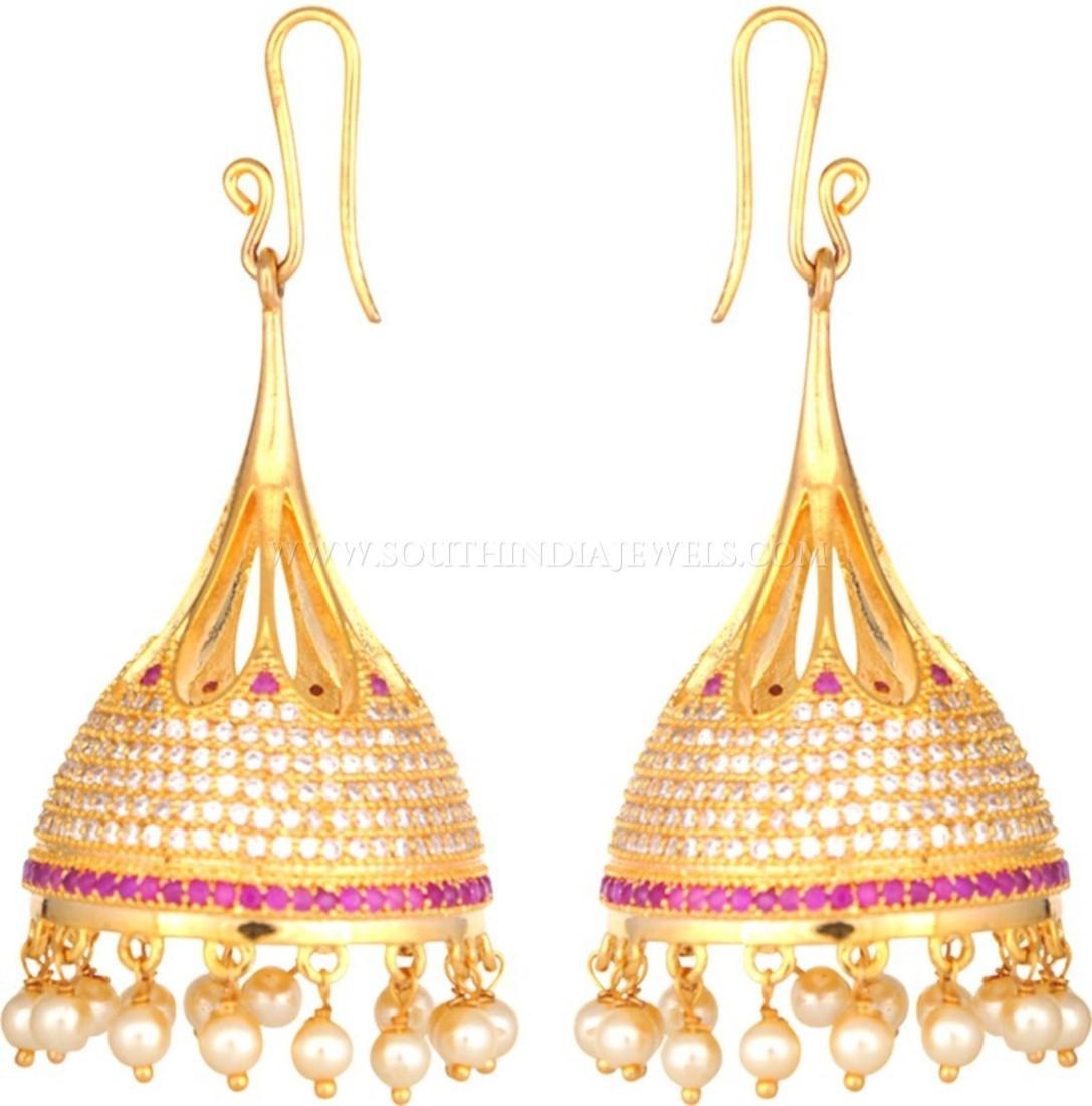 Beautiful Gold Jhumka Designs