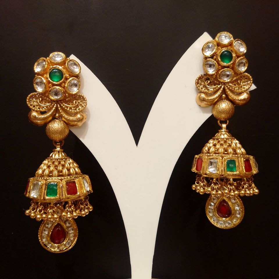 South Indian Gold Jhumka Designs