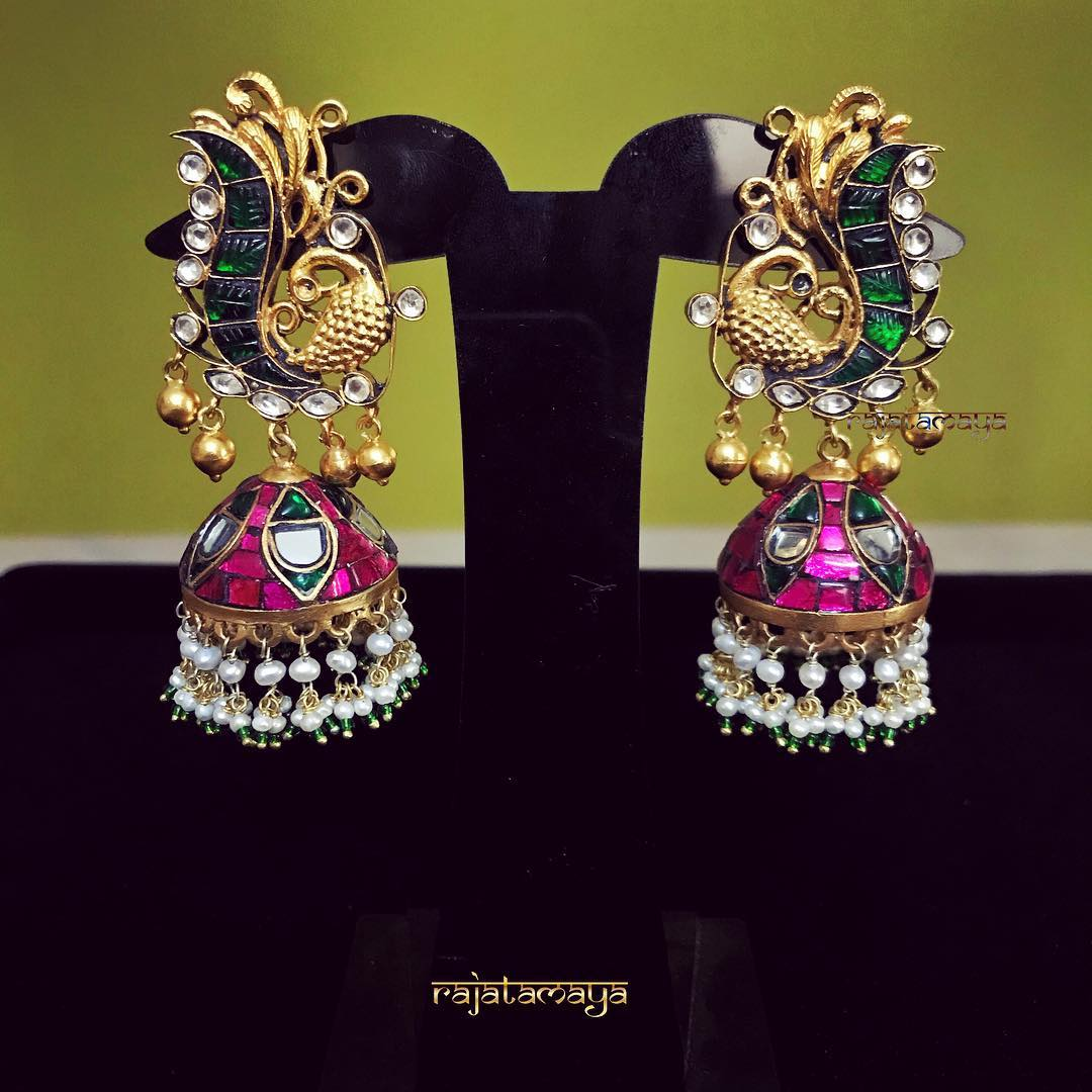 jhumka design image 16 rajatamaya