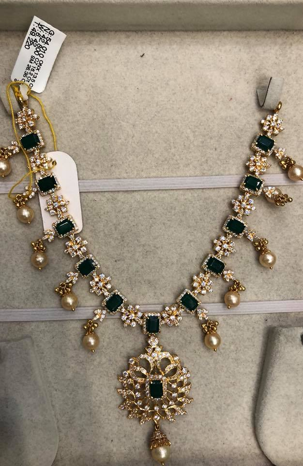 Emerald Necklace Designs in Gold
