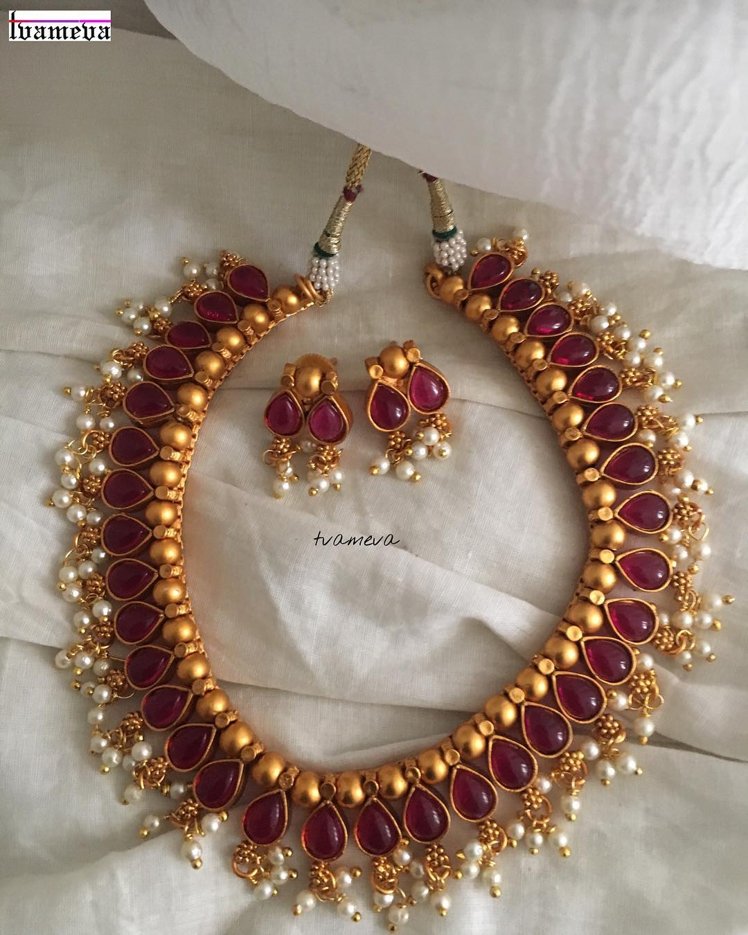 latest ruby necklace designs