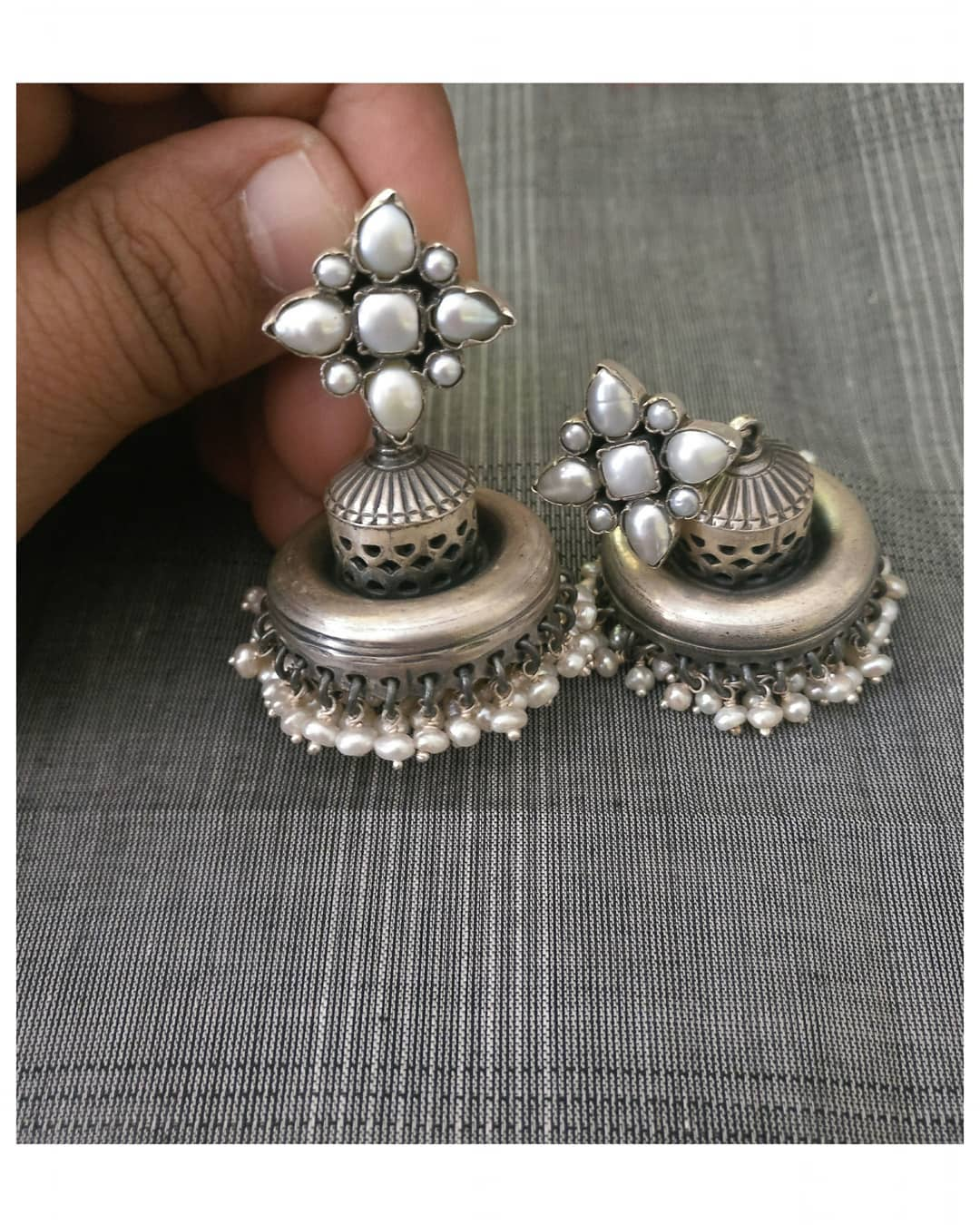 7b889c0d4 Top 10 Brands To Shop Silver Jhumka Online • South India Jewels