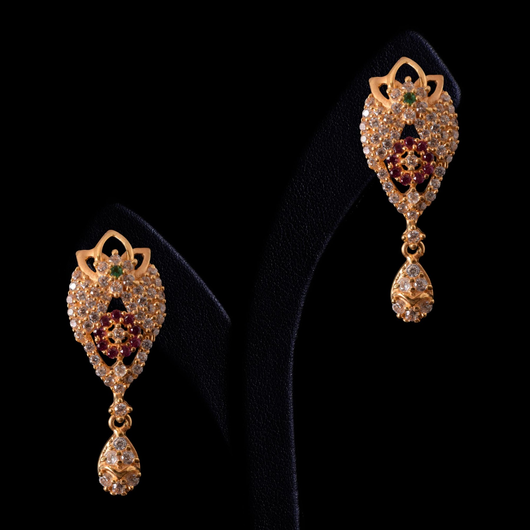 7b7ac35b5 24 Adorable Small Gold Earrings Designs • South India Jewels