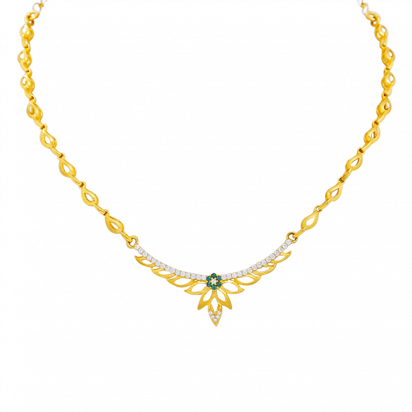 gold necklace designs in 15 grams