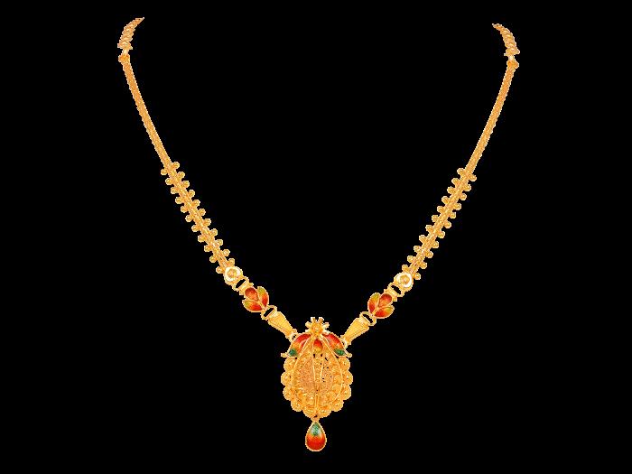 16 gram gold necklace designs