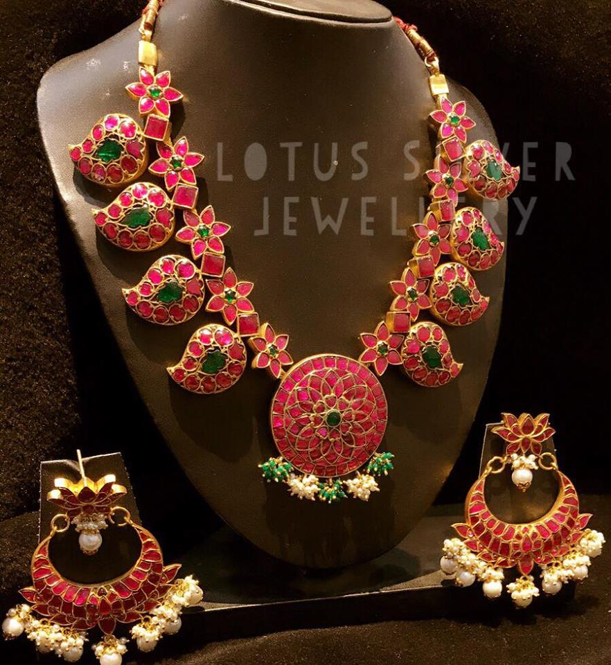 gold plated antique silver jewellery