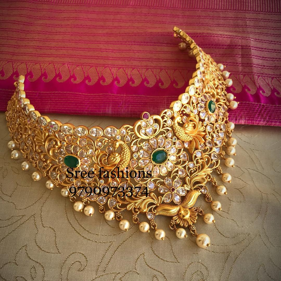 gold-plated-jewellery-designs-for-sarees (3)
