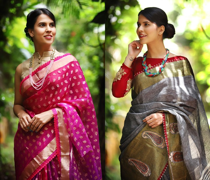 jewellery to wear with party wear sarees
