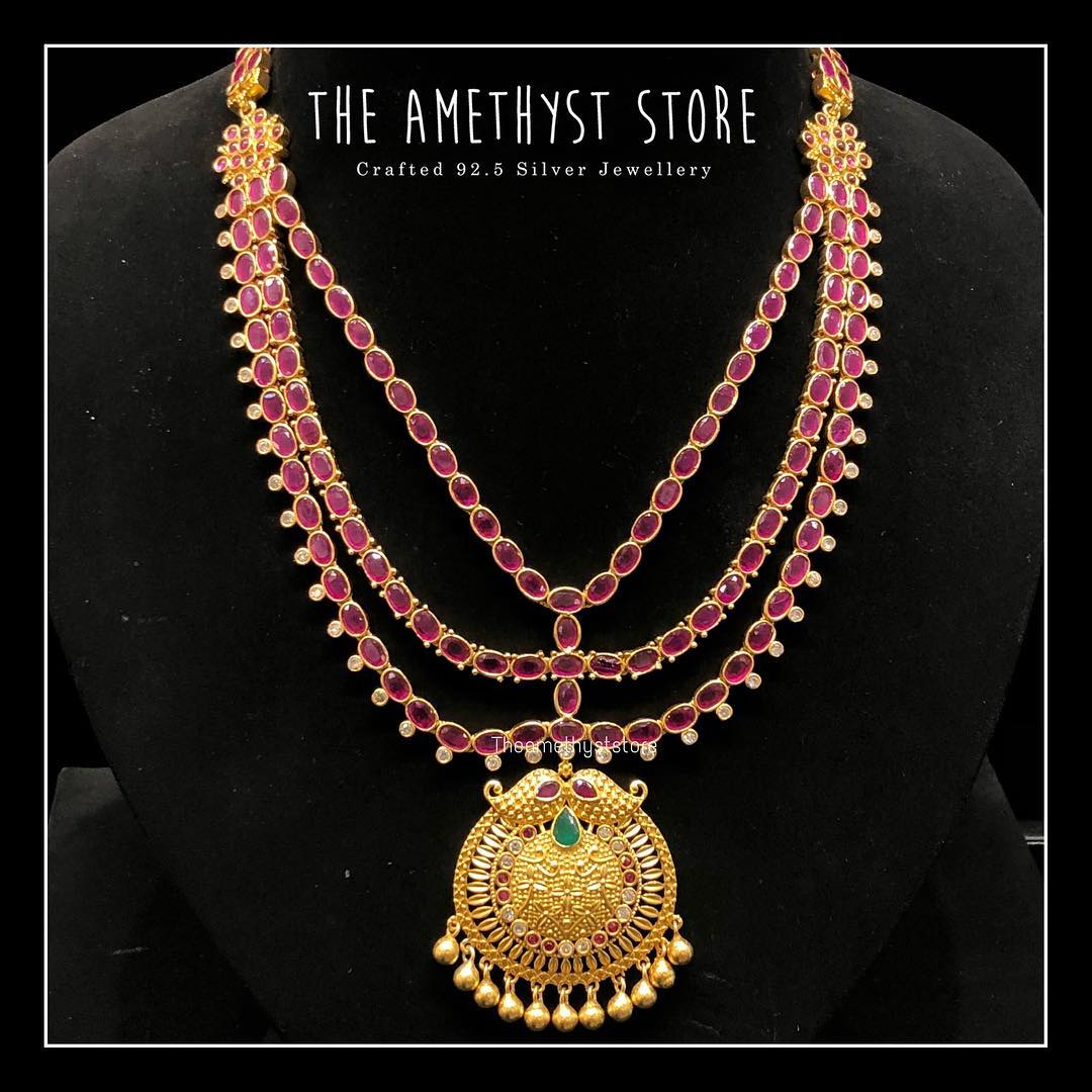 gold-plated-pure-silver-antique-necklace-designs (10)