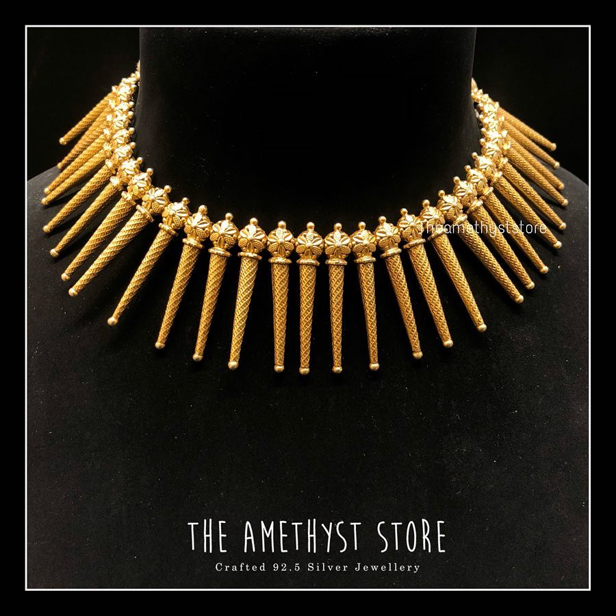 gold-plated-pure-silver-antique-necklace-designs (3)