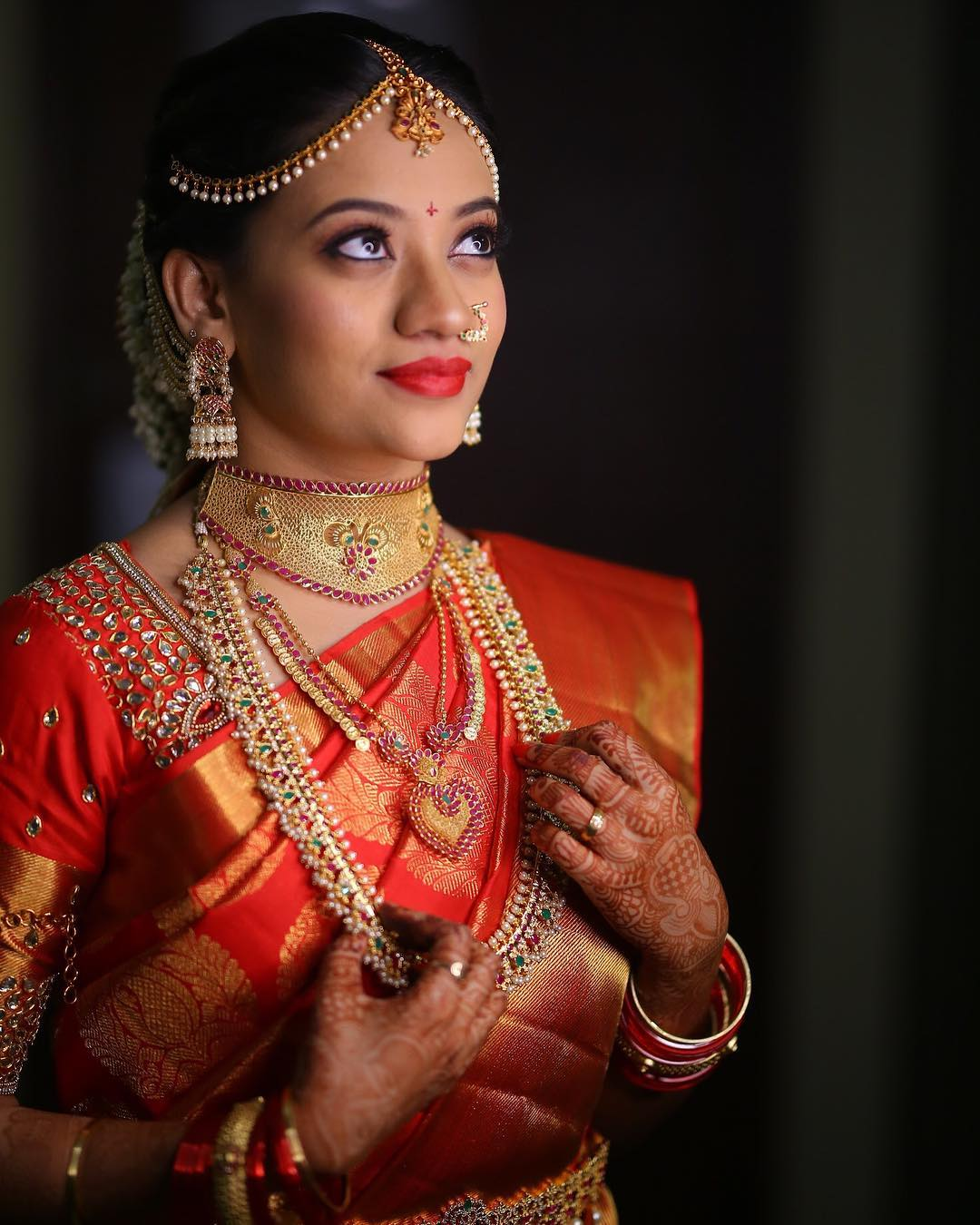 jewellery-for-red-silk-sarees (2)