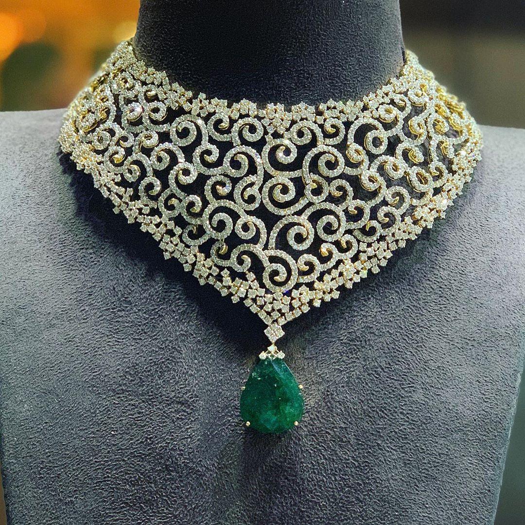diamond-choker-necklace-designs-2019 (10)