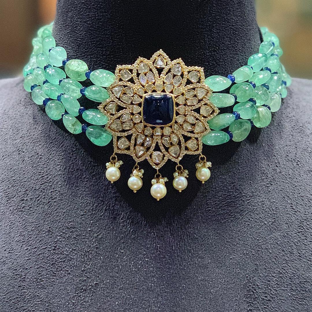 diamond-choker-necklace-designs-2019 (14)