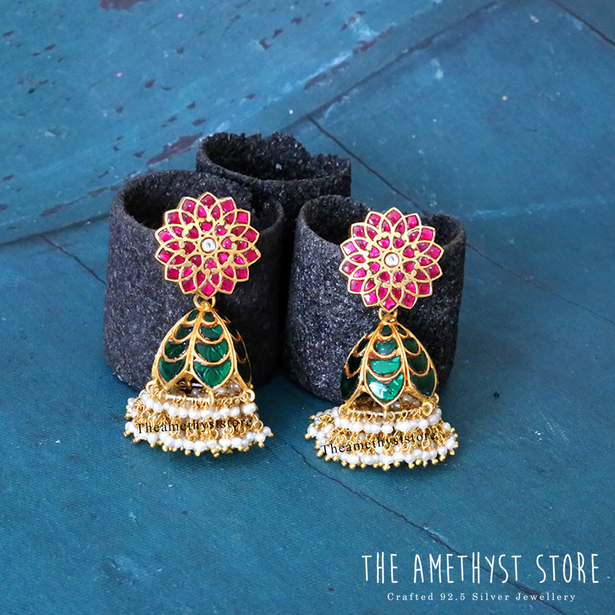gold-plated-antique-silver-jhumka-designs (11)
