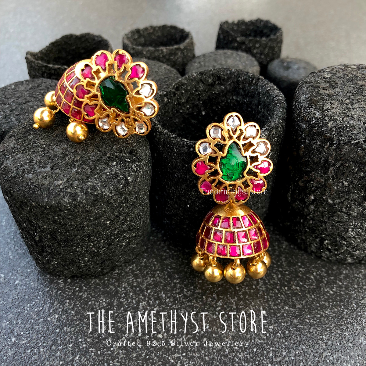 gold-plated-antique-silver-jhumka-designs (13)