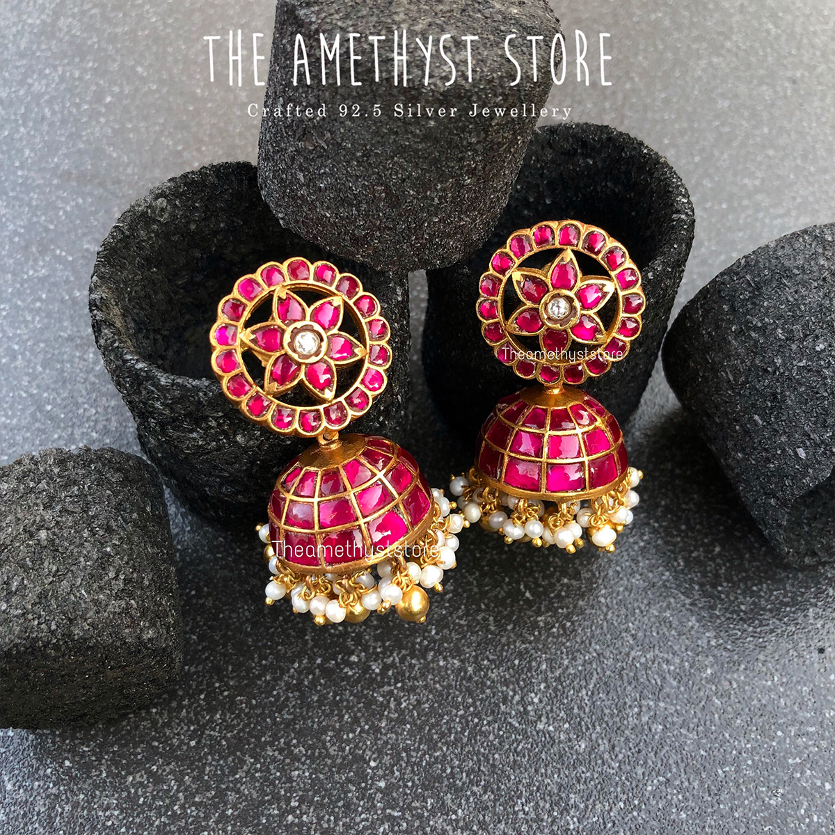 gold-plated-antique-silver-jhumka-designs (14)