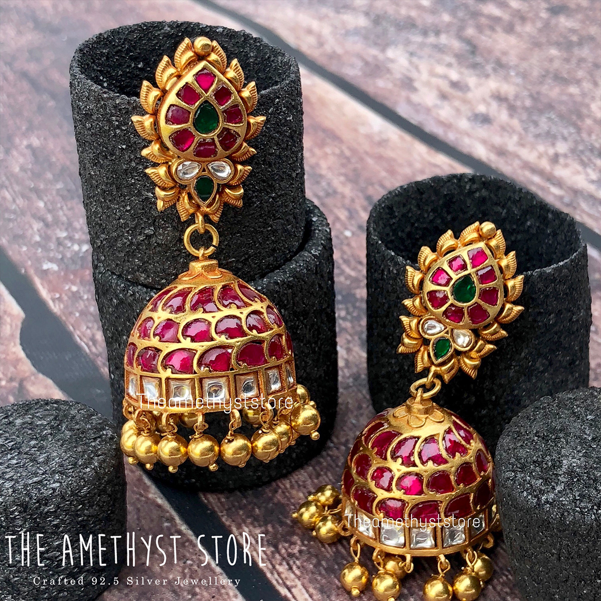gold-plated-antique-silver-jhumka-designs (3)