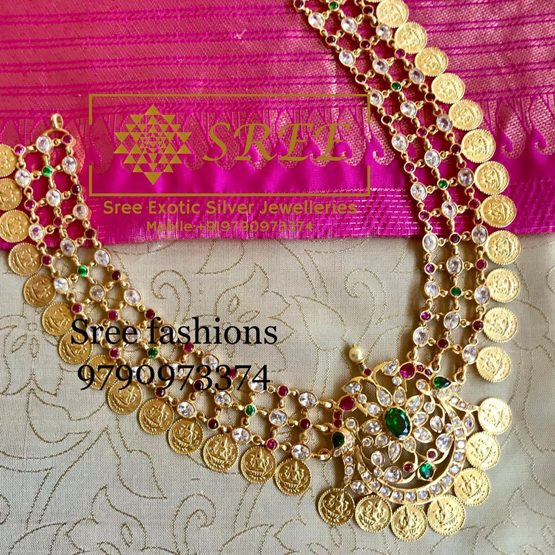 gold-plated-silver-antique-jewellery-designs-2019 (12)