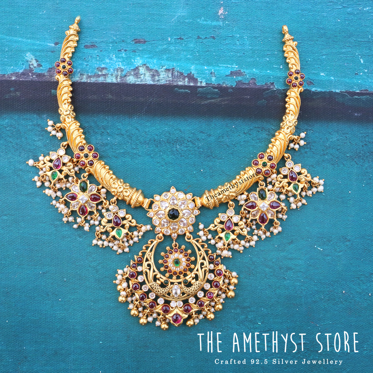 gold-plated-silver-antique-jewellery-designs-2019 (5)