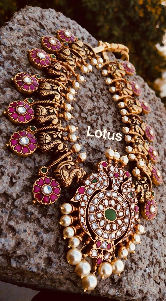 gold-plated-silver-antique-jewellery-designs-2019 (9)