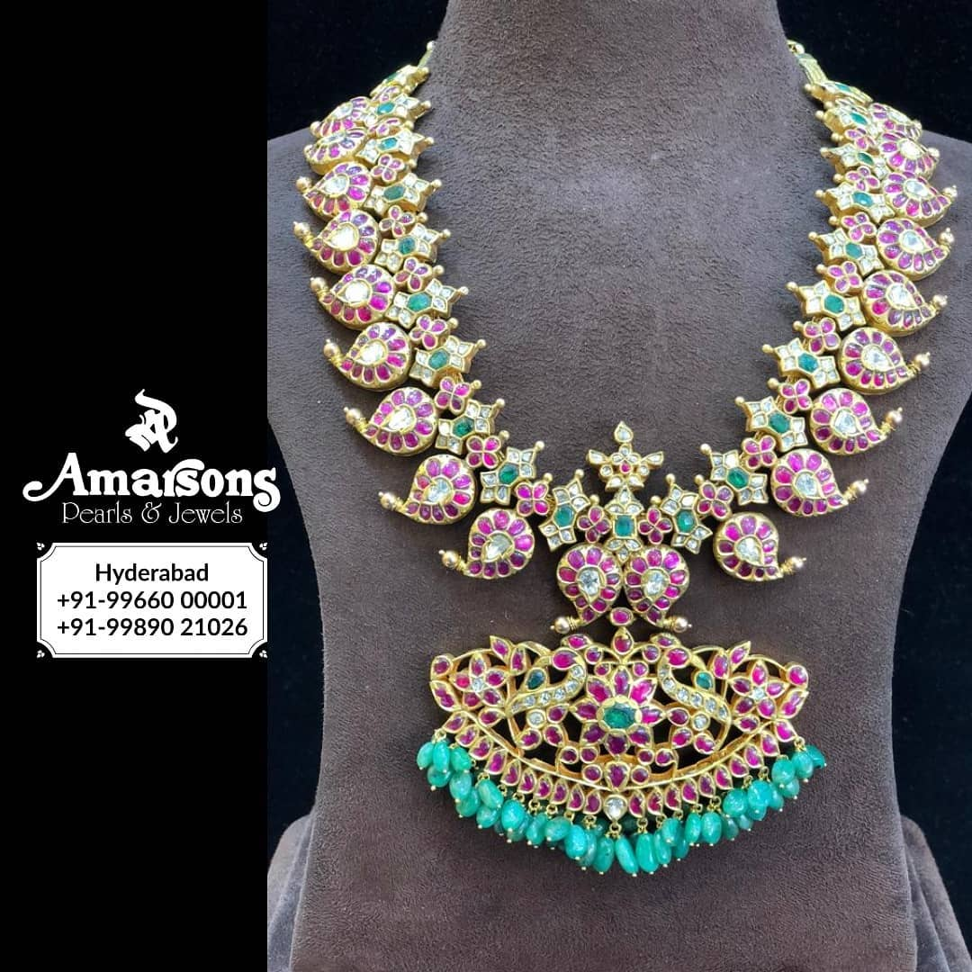 shop-south-indian-gold-haram-designs-online (9)