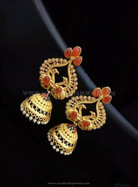 Beautiful Gold Jhumka Designs