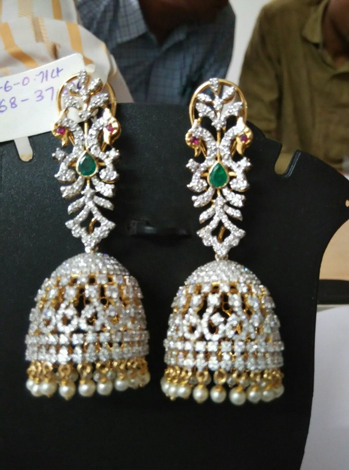 Diamond Jhumka Designs
