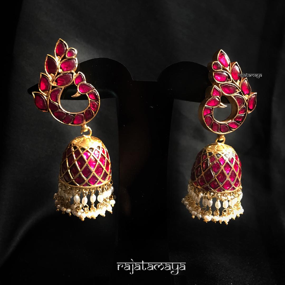 jhumka design image 13 rajatamaya