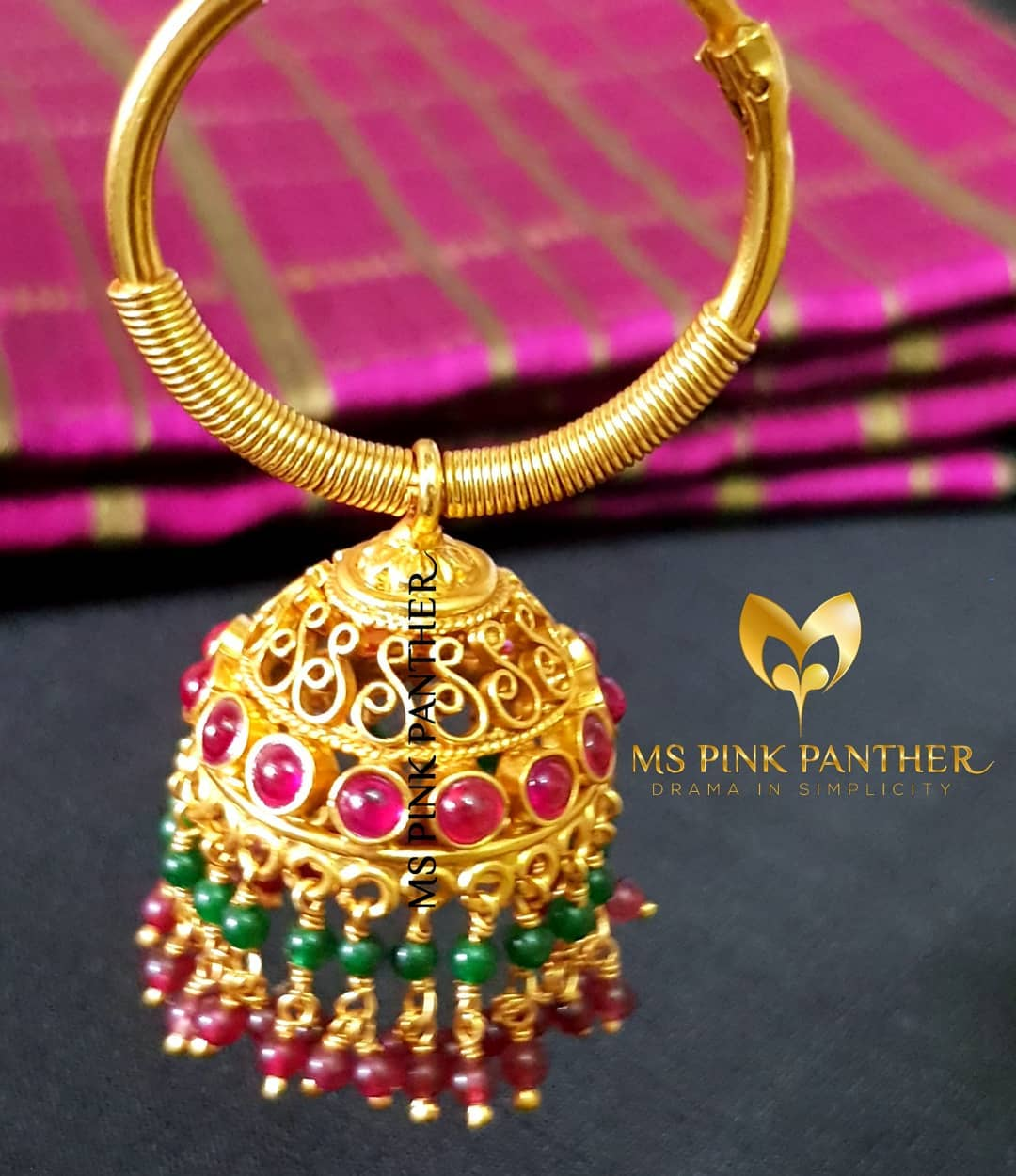 jhumka design image 5 Ms pink panther