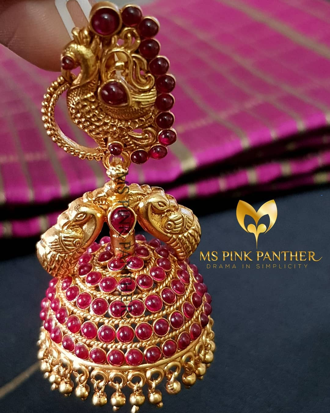jhumka design image 6 ms pink panther