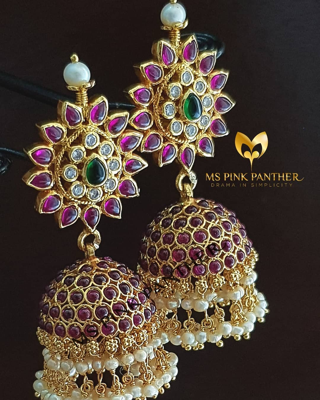 jhumka design image 8 ms pink panther