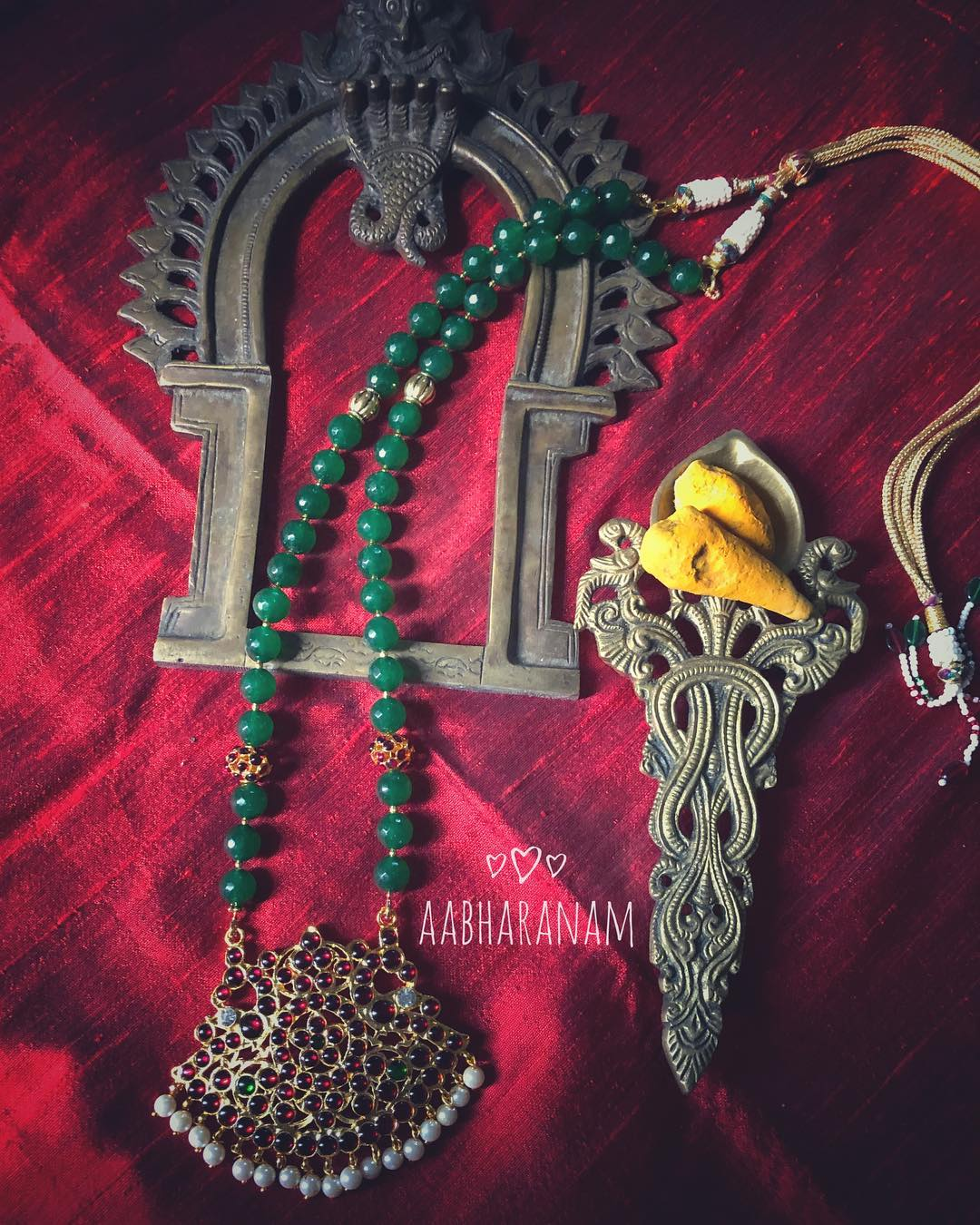 Imitation temple jewellery