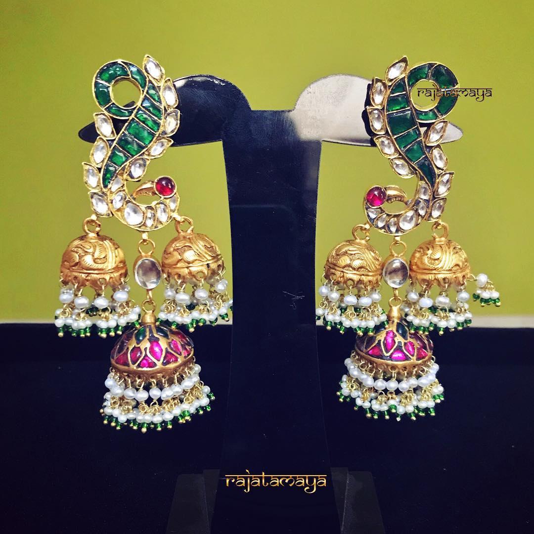 antique kundan earrings