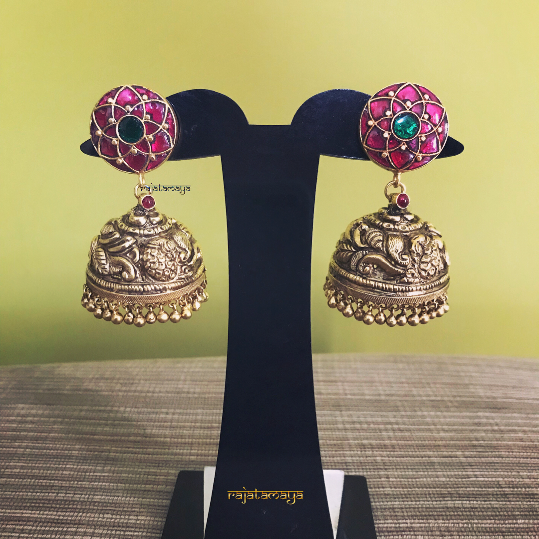 antique kundan earrings