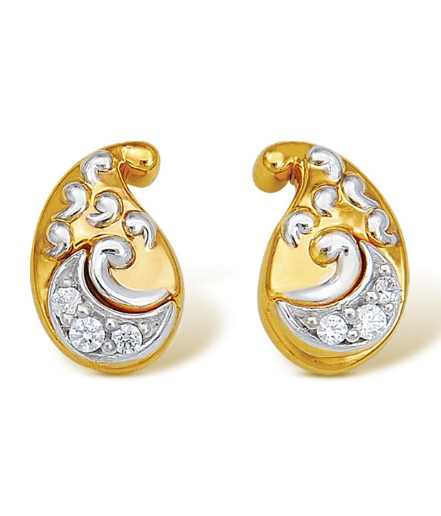 gold earrings designs in 2 gram