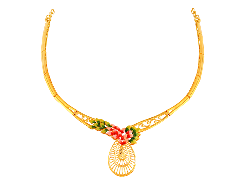 21 Gorgeous Gold Necklace Designs In 15 Grams South India Jewels
