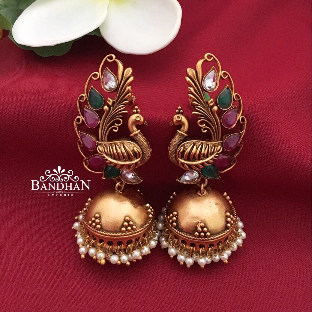 jhumka designs from bandhan
