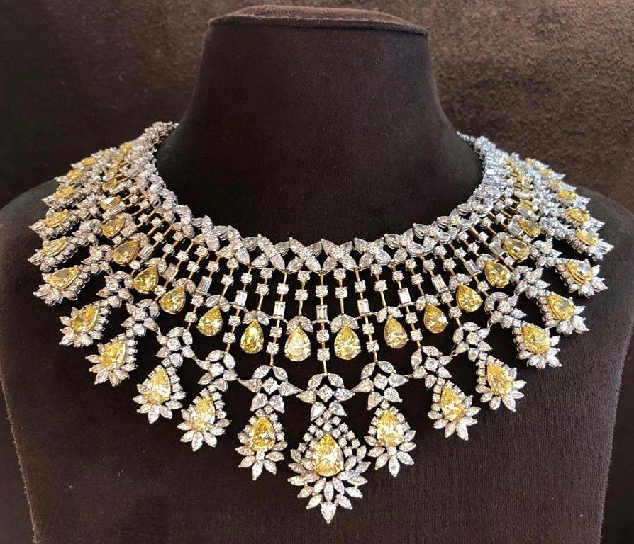 bold gold diamond jewellery