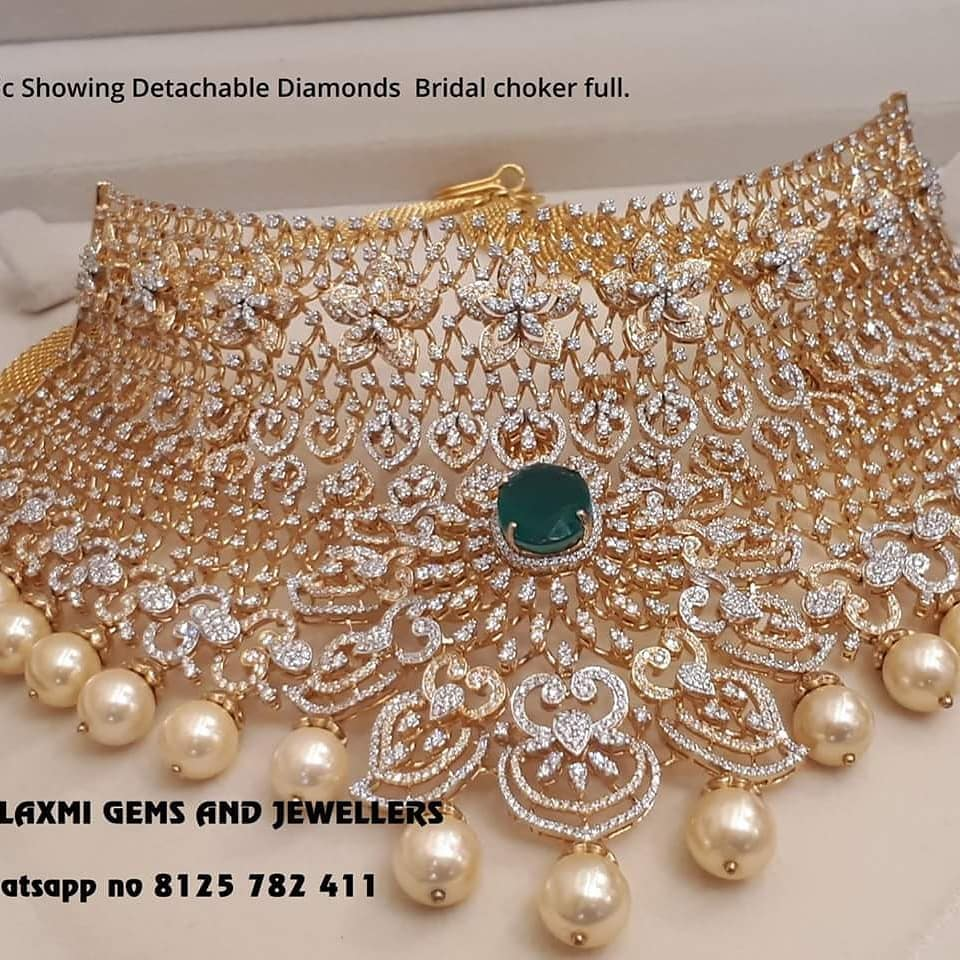 diamond jewellery designs 2018