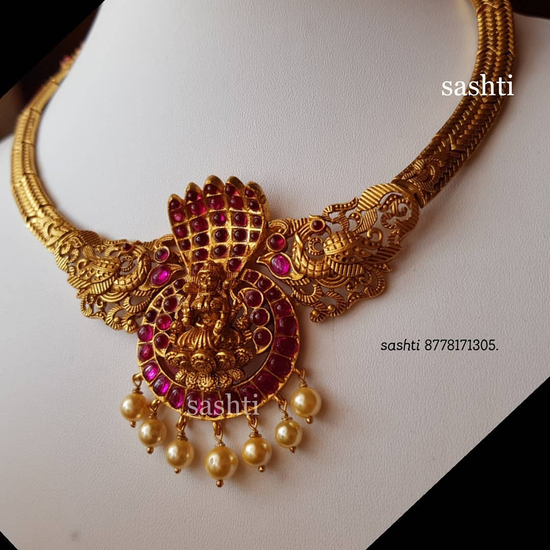 gold plated pure silver antique kundan jewellery