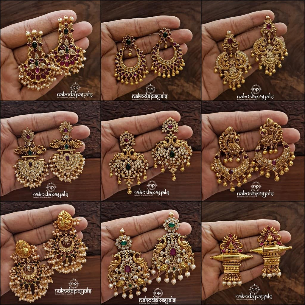 south-indian-gold-plated-pure-silver-earrings (1)