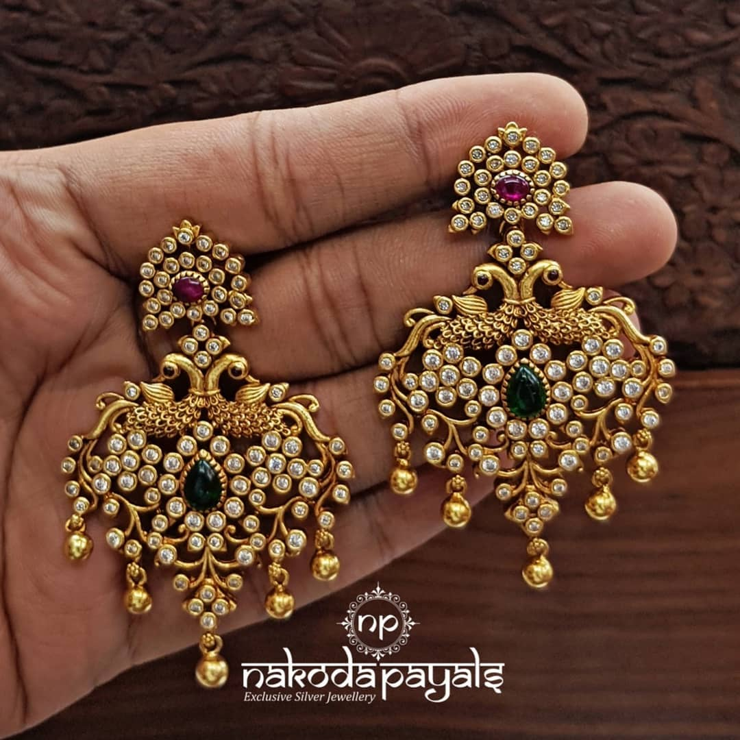 south-indian-gold-plated-pure-silver-earrings (10)