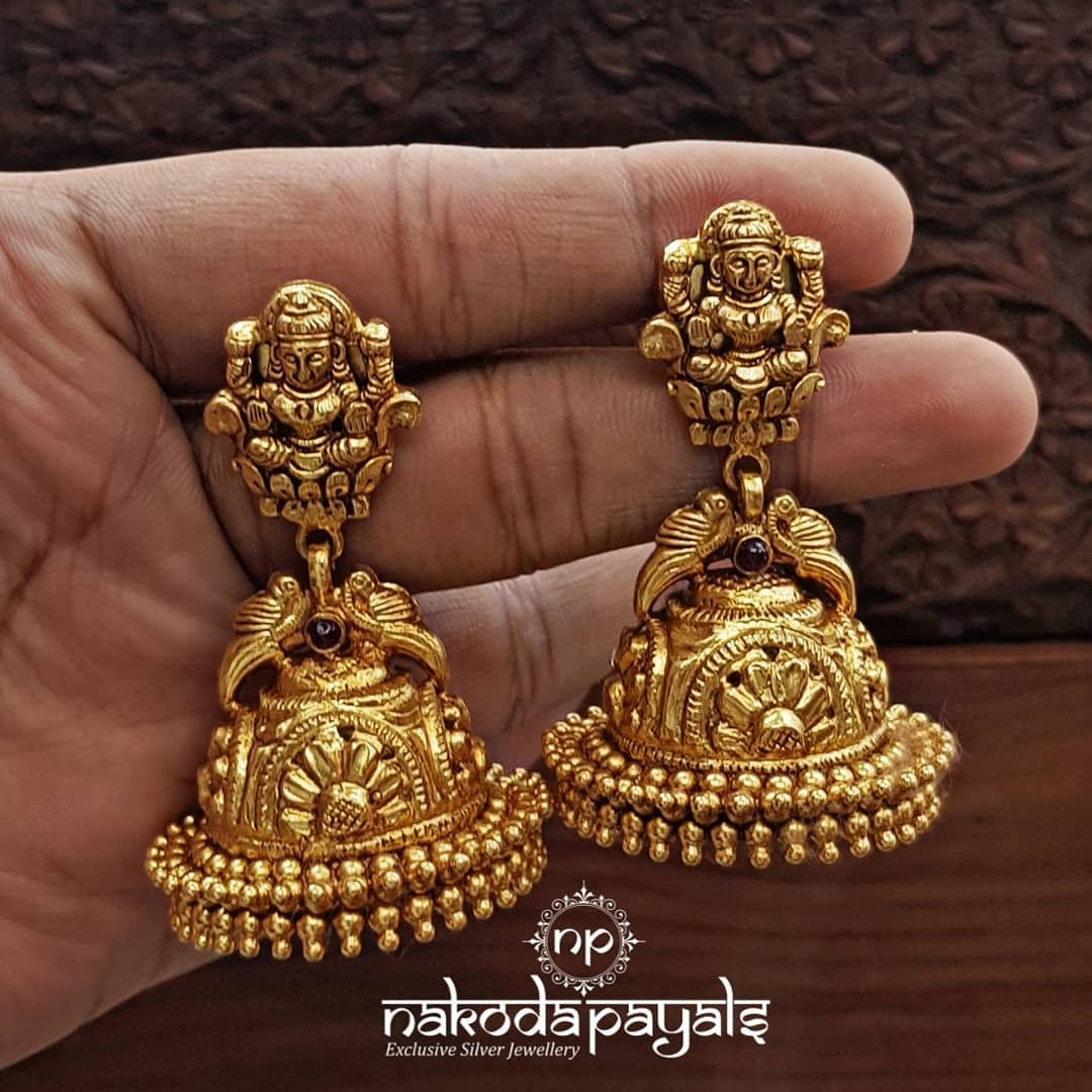 south-indian-gold-plated-pure-silver-earrings (12)