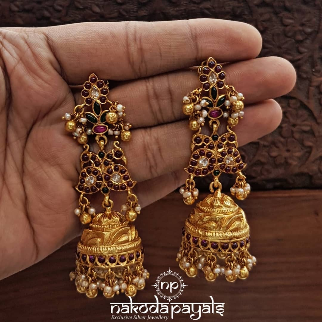 south-indian-gold-plated-pure-silver-earrings (13)