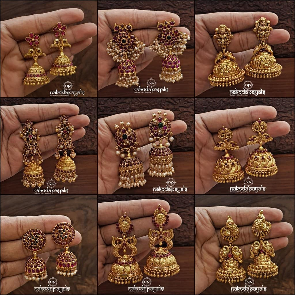 south-indian-gold-plated-pure-silver-earrings (2)
