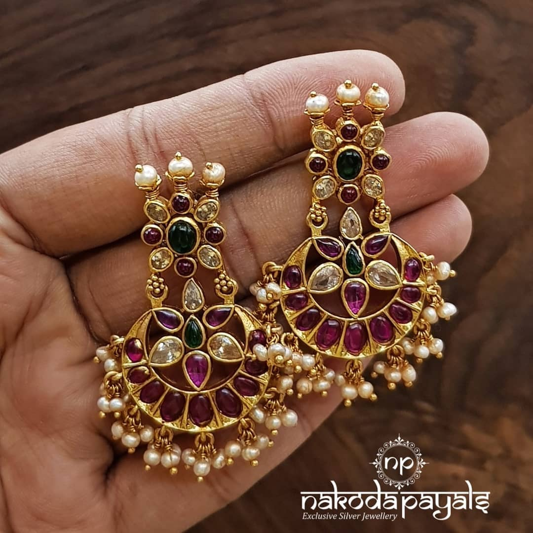 south-indian-gold-plated-pure-silver-earrings (3)