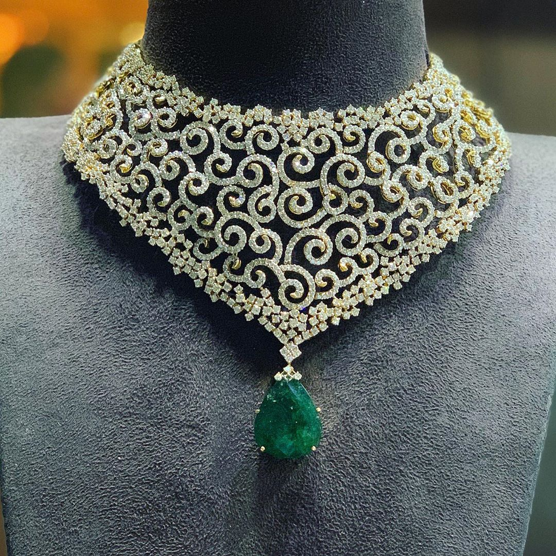 diamond-choker-necklace-designs-2019 (10)