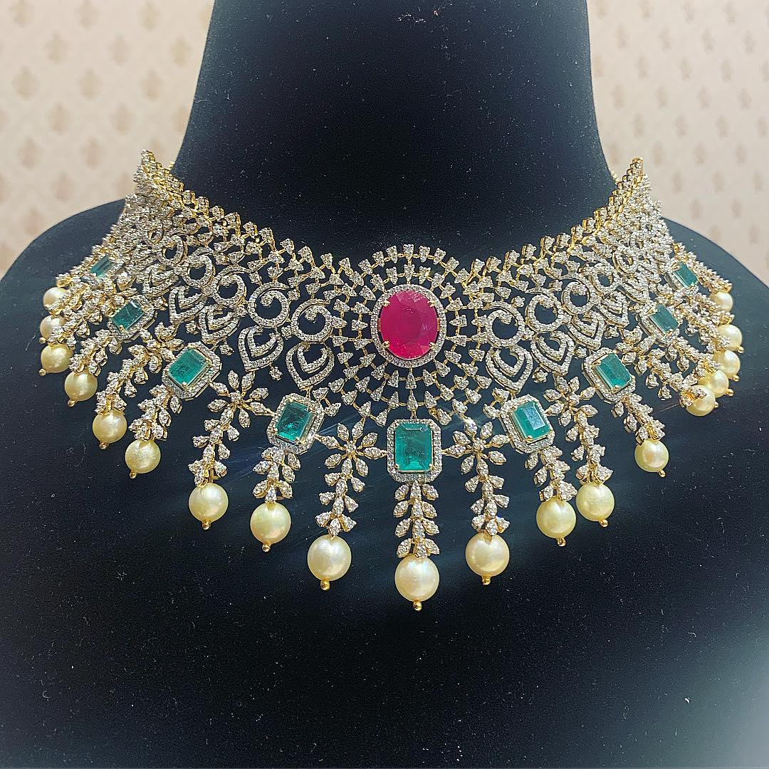 diamond-choker-necklace-designs-2019 (2)