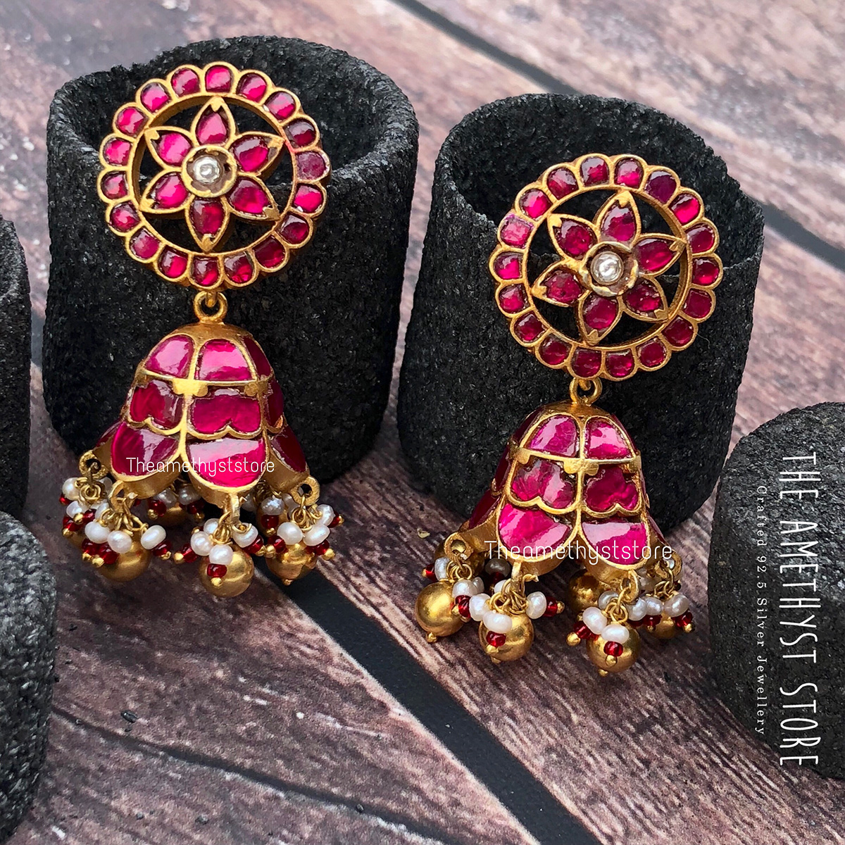 gold-plated-antique-silver-jhumka-designs (1)