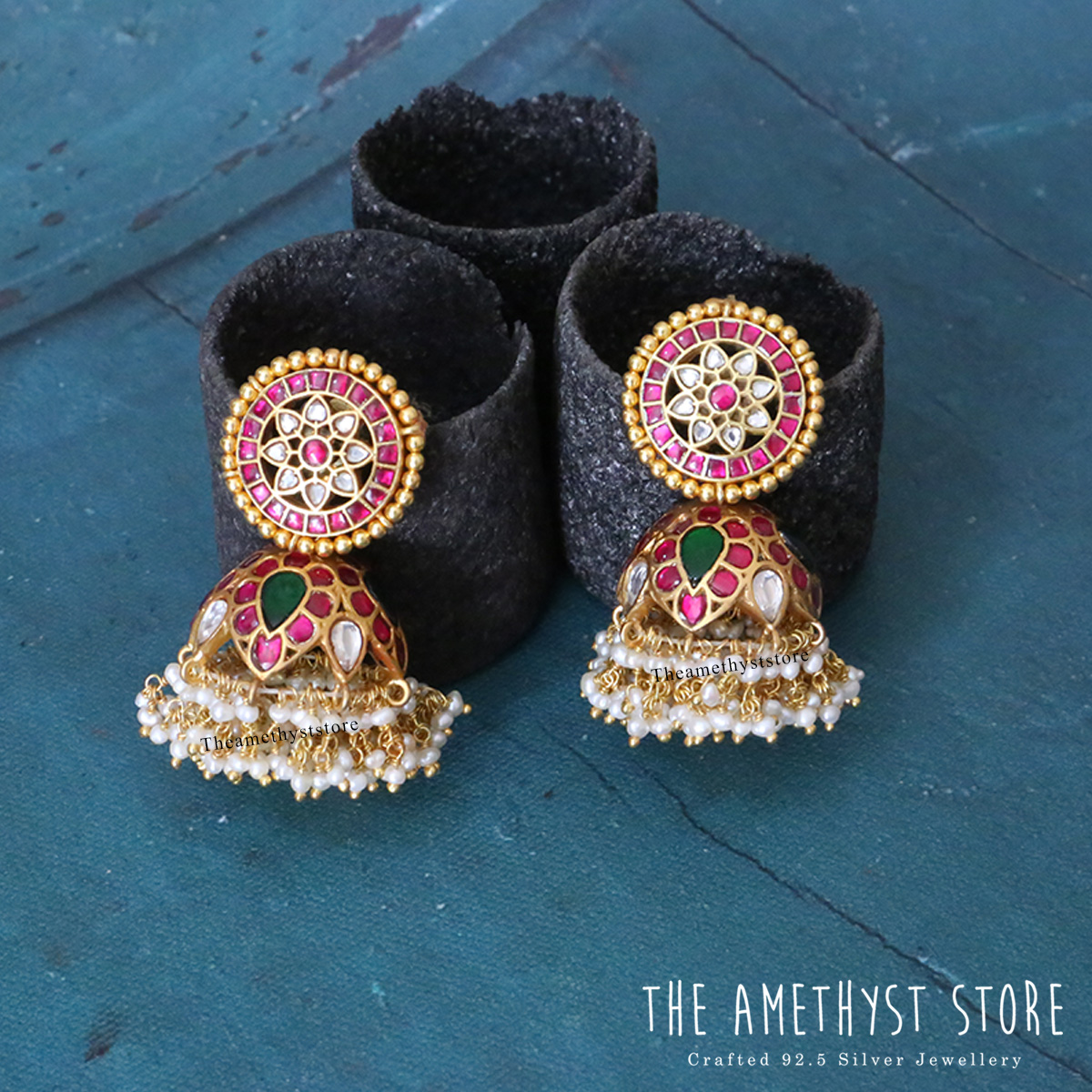 gold-plated-antique-silver-jhumka-designs (10)